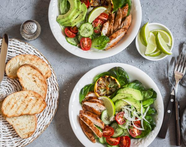 DG - Light meals and fresh vegetable salad