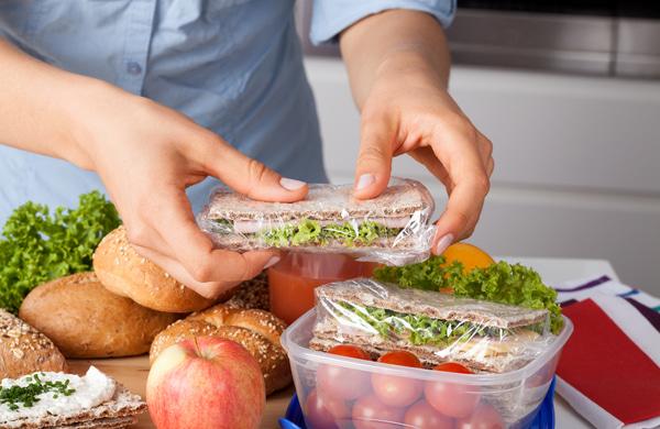 Preparing takeaway meal