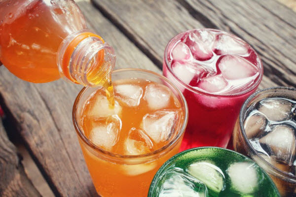 DG - Four colors of softdrinks