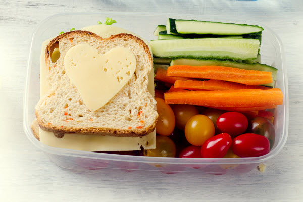 Healthy food kept in a container